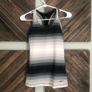 Nike Dri Fit Striped Tank Small